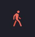 Walk Man computer symbol vector image vector image