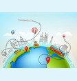 world travel color vector image vector image