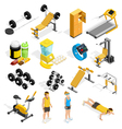 1609i201003Pm003c23GYM isometric set vector image vector image
