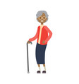 african grandmother with stick full length avatar vector image