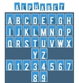 Alphabet flat font template vector image vector image
