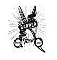 barbershop logo icon vector image vector image