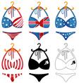 Bikini vector image vector image
