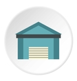 Blue garage icon flat style vector image vector image
