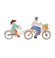 Cartoon happy family riding