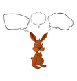 Cartoon Thinking Rabbit vector image vector image
