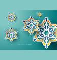 celebration greeting ramadan islamic design vector image vector image