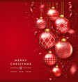 christmas background with shining ribbons vector image vector image