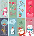 Christmas banners with funny characters vector | Price: 3 Credits (USD $3)