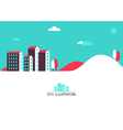 city header vector image vector image