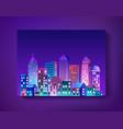 cityscape landscape ultraviolet vector image vector image