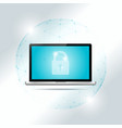 cyber security concept with laptop vector image