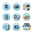E-Business concept computers smartphone pc vector image