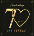 elegant black and gold anniversary background 70 vector image vector image