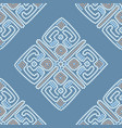 ethnic seamless pattern background in blue colors vector image vector image