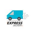 express delivery icon concept van service order vector image vector image