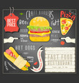 fast food menu template vector image vector image