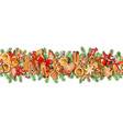festive seamless border isolated on white vector image