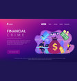 financial crimes concept landing page vector image vector image