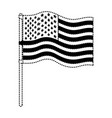 flag united states of america in flagpole wave in vector image vector image
