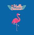 flamingo bird design on background vector image vector image