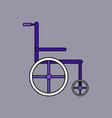 flat icon design collection medical wheelchair vector image vector image