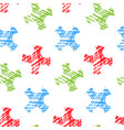 geometric seamless pattern hand drawn vector image vector image