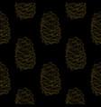 golden fir cones decor seamless pattern vector image vector image