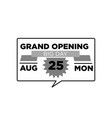 grand opening ceremony emblem vector image vector image