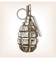 Grenade hand drawn sketch vector image