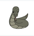grey cartoon snake vector image vector image
