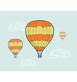hand drawn sketch air balloons vector image vector image