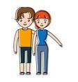 happy couple icon vector image vector image