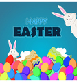 happy easter eggs vector image vector image