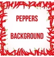 hot chili peppers frame ornament vector image