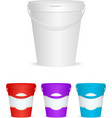 Ice cream Plastic Container vector image