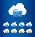 icons cloud computing vector image vector image