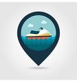 Jet Ski pin map icon Summer Vacation vector image vector image