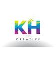 kh k h colorful letter origami triangles design vector image vector image