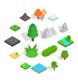 landscape icons set isometric 3d style vector image