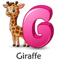 letter g is for giraffe cartoon alphabet