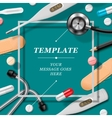 Medical template with medicine equipment vector image vector image