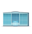 modern bank building facade with glass wall front vector image