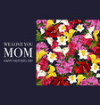 Mother day banner with spring flower background vector image