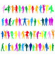 multicolored people silhouettes vector image vector image