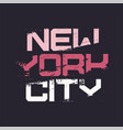 new york city grunge stylized graphic t-shirt vector image vector image