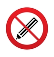 No Pencil sign icon Edit content button vector image vector image