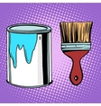 paint brush work painting design vector image vector image