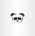 panda icon stylised icon vector image vector image