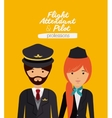 pilot and flight attendant design vector image vector image